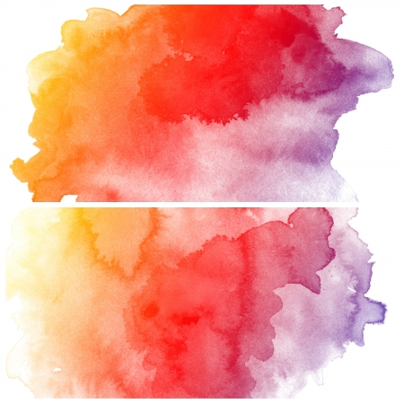 Set of colorful Abstract water color art hand paint background Stock Photo - 16291684