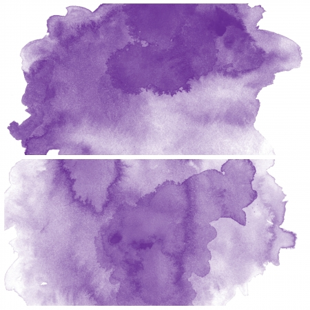 purple love: Set of colorful Abstract water color art hand paint background