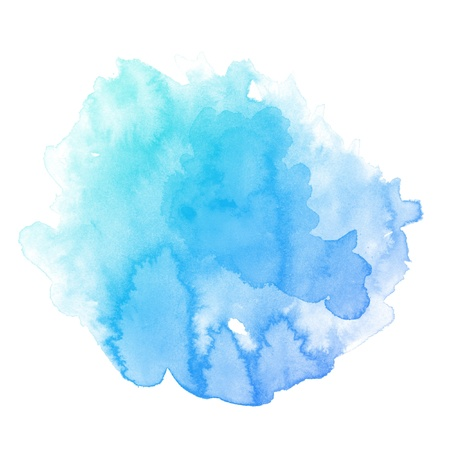 blot: colorful Abstract water color art hand paint background Stock Photo