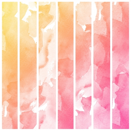 Set of colorful Abstract water color art hand paint background Stock Photo - 16291775
