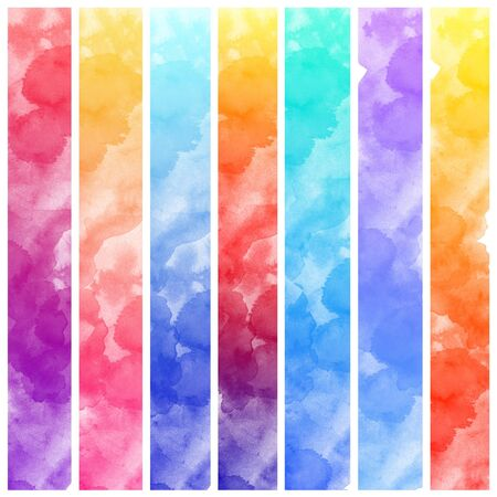 intensity: Set of colorful Abstract water color art hand paint background