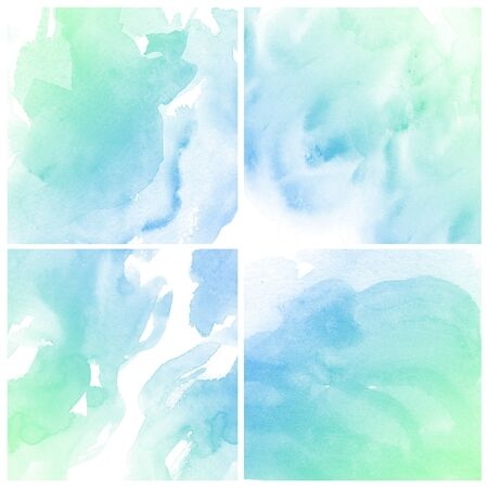 intensity: set of colorful Abstract water color art hand paint on white background