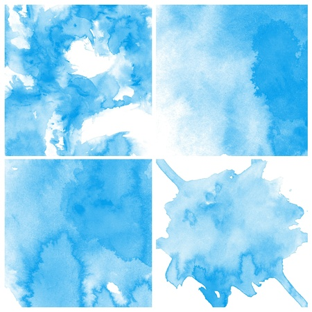 colour intensity: Set of colorful Abstract water color art hand paint background