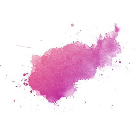 pallino: Colorful Abstract acquerello mano di vernice d'arte su sfondo bianco Archivio Fotografico