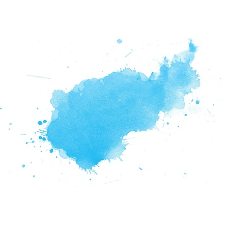 colour intensity: colorful Abstract water color art hand paint on white background