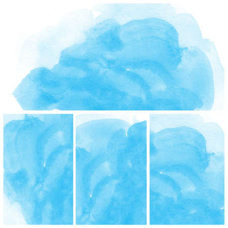 Set of colorful Abstract water color art hand paint background Stock Photo - 16554797