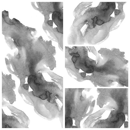 Set of colorful Abstract water color art hand paint background Stock Photo - 16554808