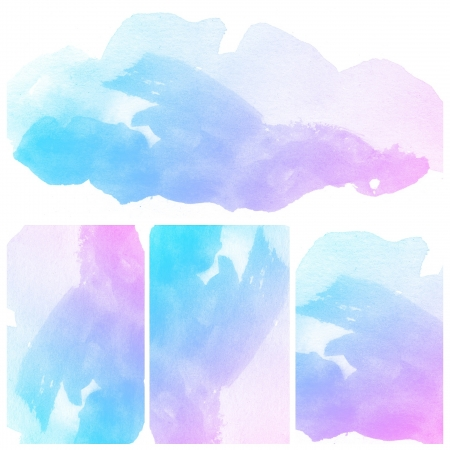 Set of colorful Abstract water color art hand paint background Stock Photo - 16554724