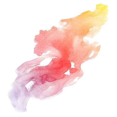 colorful Abstract water color art hand paint background photo