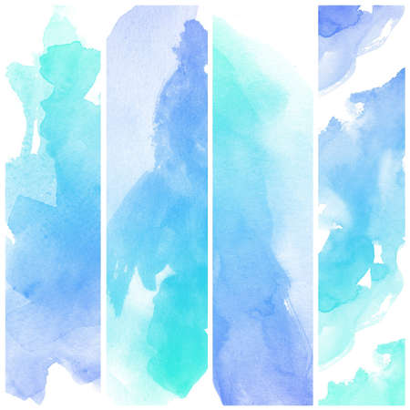 Set of colorful Abstract water color art hand paint background Stock Photo - 16554796