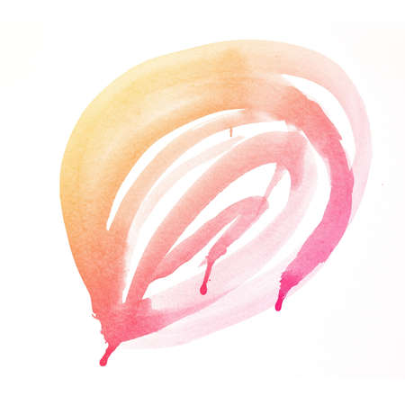 colorful Abstract water color art hand paint on white background photo