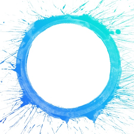 Abstract colorful splash circle watercolor art hand paint on white background
