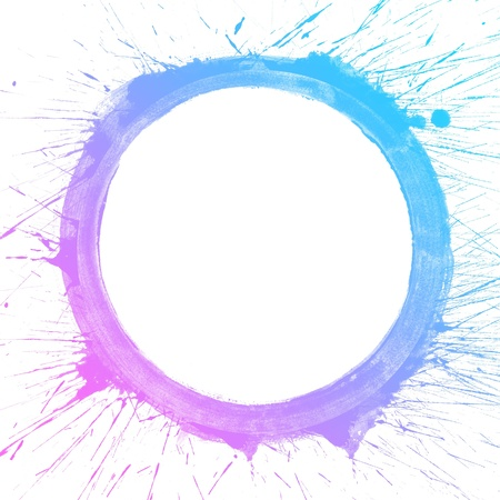 Abstract colorful splash circle watercolor art hand paint on white background Stock Photo - 16776667