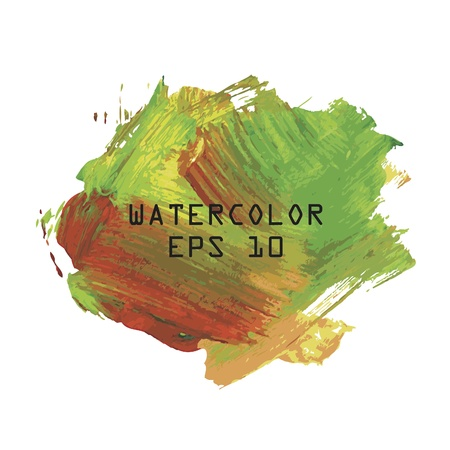 Abstract colourful watercolor hand paint on white background Vector