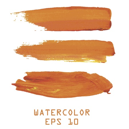Abstract orange watercolor hand paint on white background