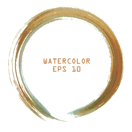 Abstract colorful watercolor circle hand paint on white background Stock Vector - 16925114