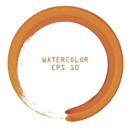 abstract cross: Astratto colorato acquerello mano di vernice cerchio su sfondo bianco