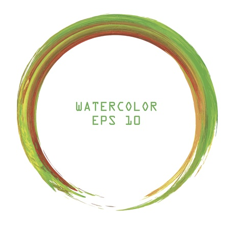 Abstract colorful watercolor circle hand paint on white background Vector