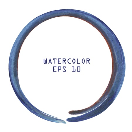 blue circles: Abstract colorful watercolor circle hand paint on white background