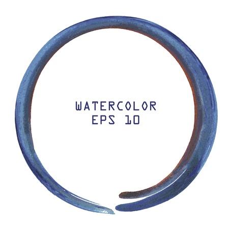 Abstracte kleurrijke aquarel cirkel kant verf op witte achtergrond