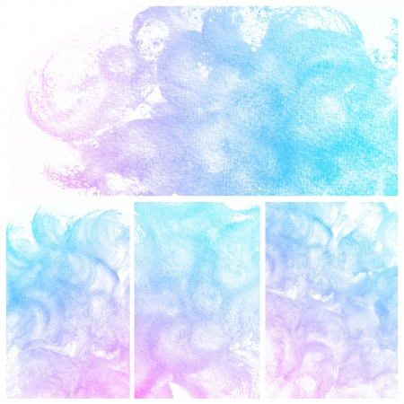 Set of colorful Abstract water color art hand paint background Stock Photo - 17516117