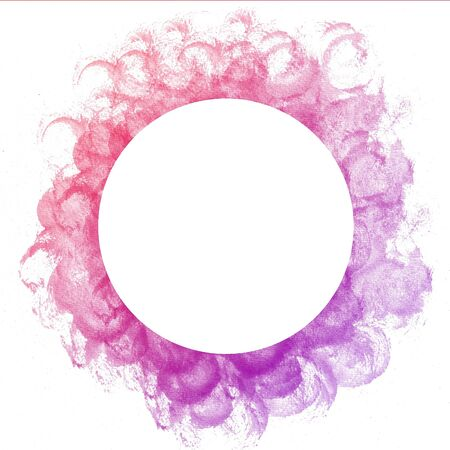 Abstract colorful circle watercolor art hand paint on white background Stock Photo - 17516116