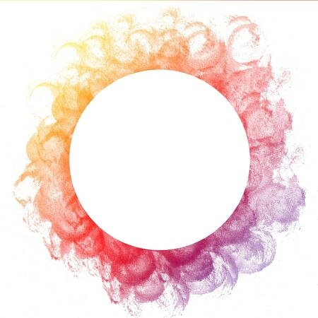 Abstract colorful circle watercolor art hand paint on white background Stock Photo - 17516064