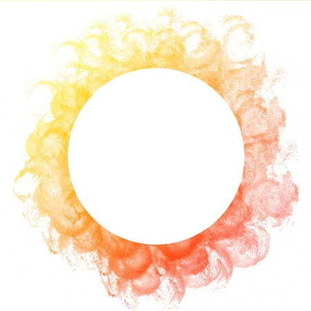 Abstract colorful circle watercolor art hand paint on white background photo