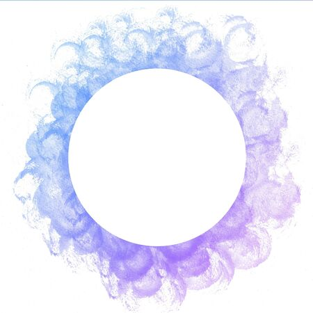 multilayer: Abstract colorful circle watercolor art hand paint on white background