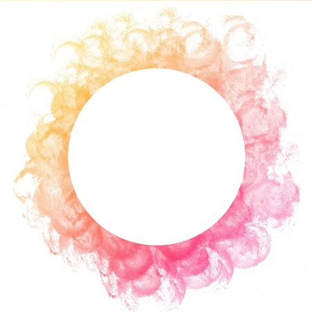 Abstract colorful circle watercolor art hand paint on white background Stock Photo - 17516044