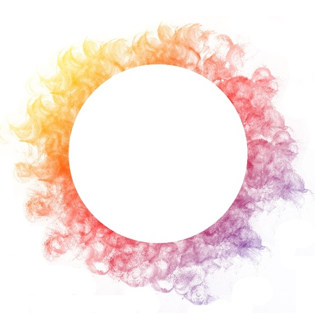 Abstract colorful circle watercolor art hand paint on white background Stock Photo - 17516060