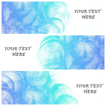 set of three banners, abstract colorful water color background photo