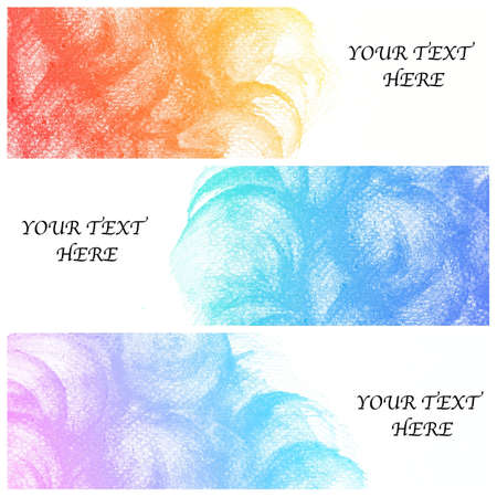 set of three banners, abstract colorful water color background Stock Photo - 17769866
