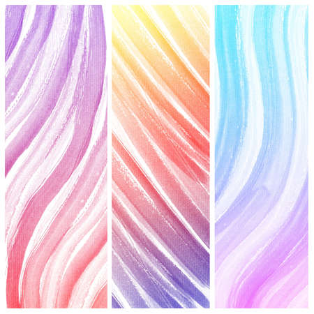 Set of colorful Abstract water color art hand paint background photo