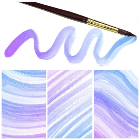 Set of colorful Abstract water color art hand paint background with artist brush photo