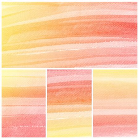 Set of colorful Abstract water color art hand paint background Stock Photo - 18666228