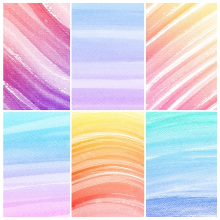 Set of colorful Abstract water color art hand paint background  Stock Photo