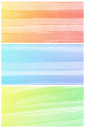 Set of colorful Abstract water color art hand paint background Stock Photo - 18666310