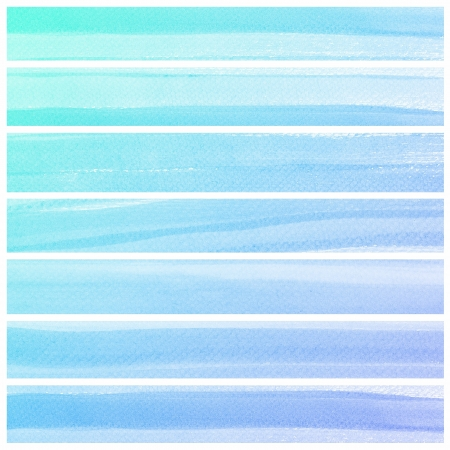 degraded: Set of colorful Abstract water color art hand paint background