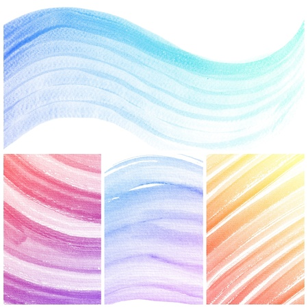 Watercolor Background  Set of colorful Abstract water color art hand paint Stock Photo - 18947002