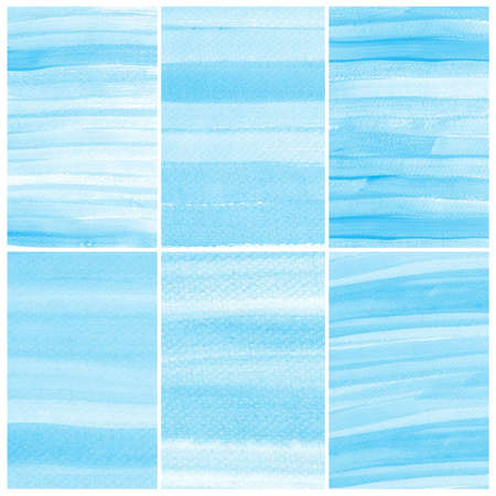 colour intensity: Watercolor Background  Set of colorful blue Abstract water color art hand paint Stock Photo