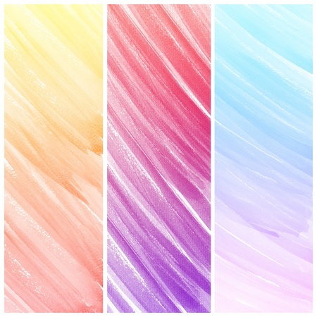 Watercolor Background  Set of colorful Abstract water color art hand paint Stock Photo - 19929286