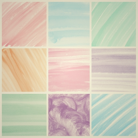 Vintage Watercolor background  colorful Abstract water color art hand paint photo