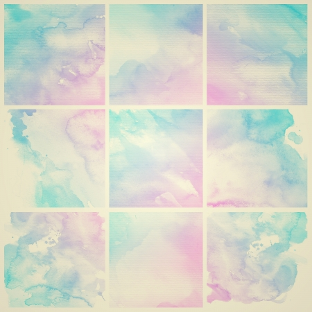 Watercolor Background  Set of colorful Abstract water color art hand paint
