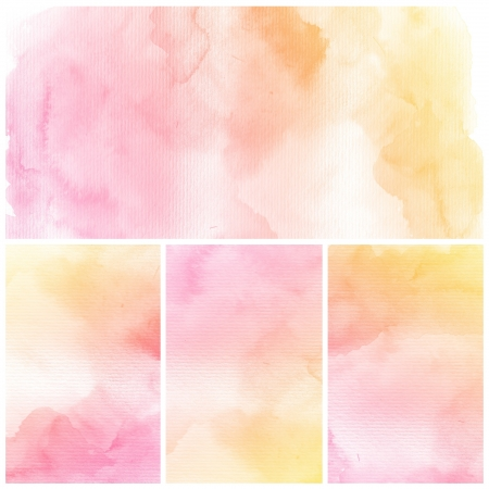 pastel colors: Watercolor Background  Set of colorful Abstract water color art hand paint
