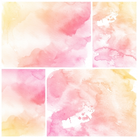 watercolor paper: Watercolor Background  Set of colorful Abstract water color art hand paint