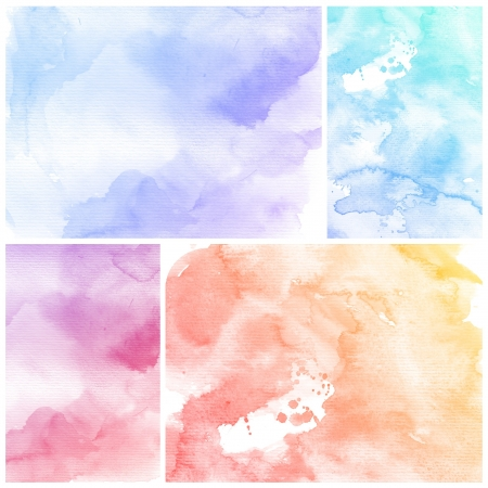 Watercolor Background  Set of colorful Abstract water color art hand paint Stock Photo - 20136206
