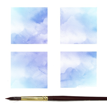 colour intensity: Watercolor Background  Set of colorful Abstract water color art hand paint
