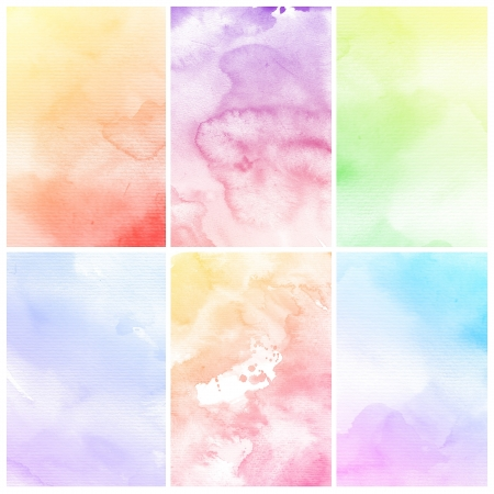 Watercolor Background  Set of colorful Abstract water color art hand paint Stock Photo - 20136375