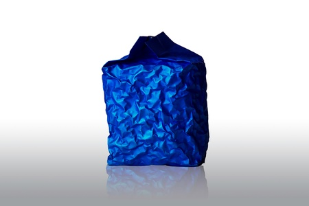 Blue Foil Packaging on white background photo